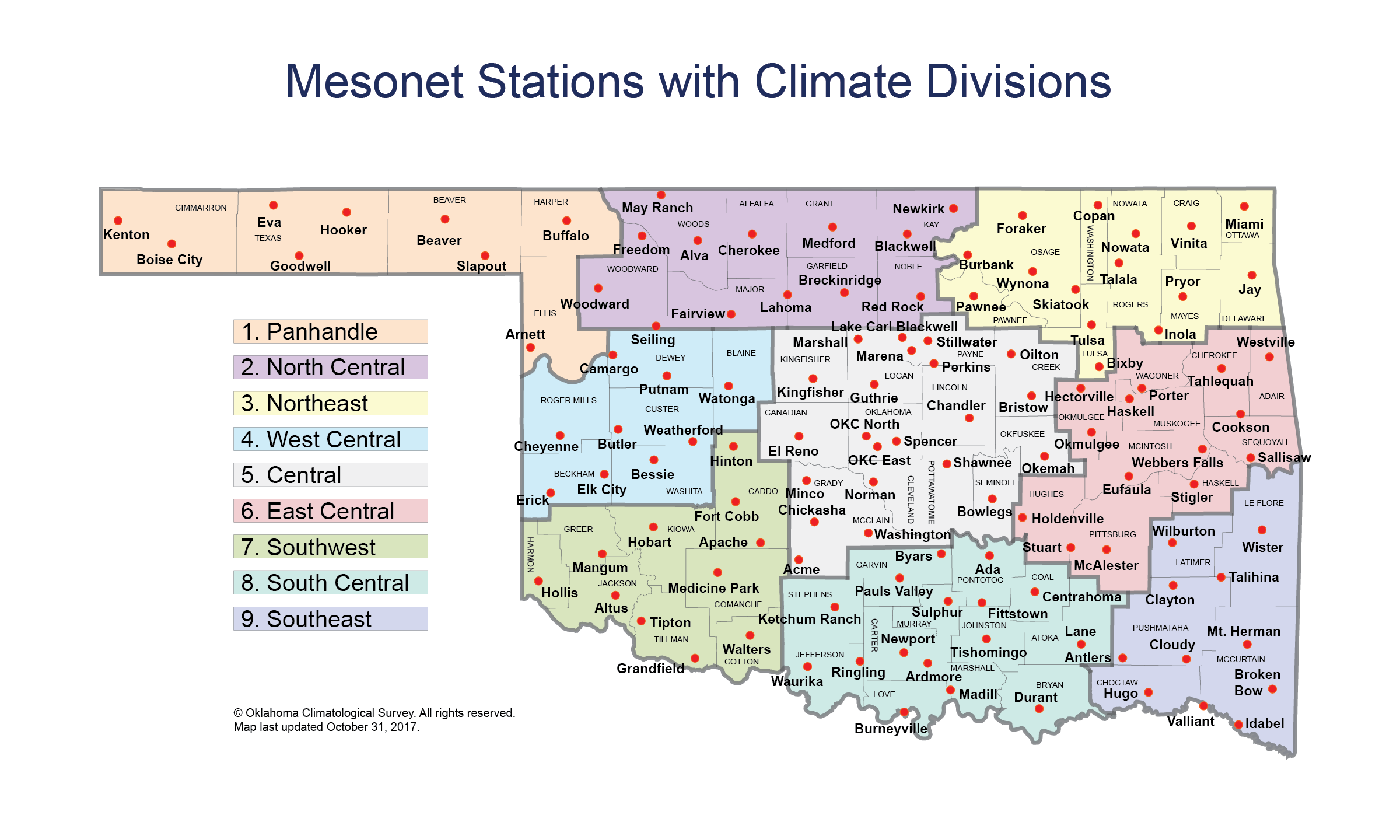 Station Names with Climate Divisions